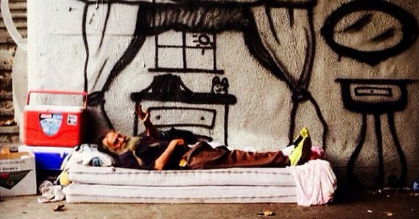 An Anonymous Street Artist Is Changing The Lives Of The Homeless With Thought-Provoking Art